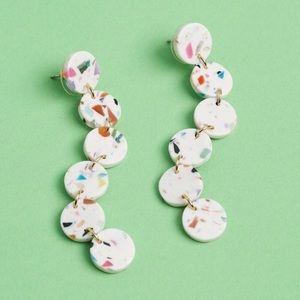 Lele Sadoughi Jewelry - NWT Lele Sadoughi Circle Garland Confetti Earrings